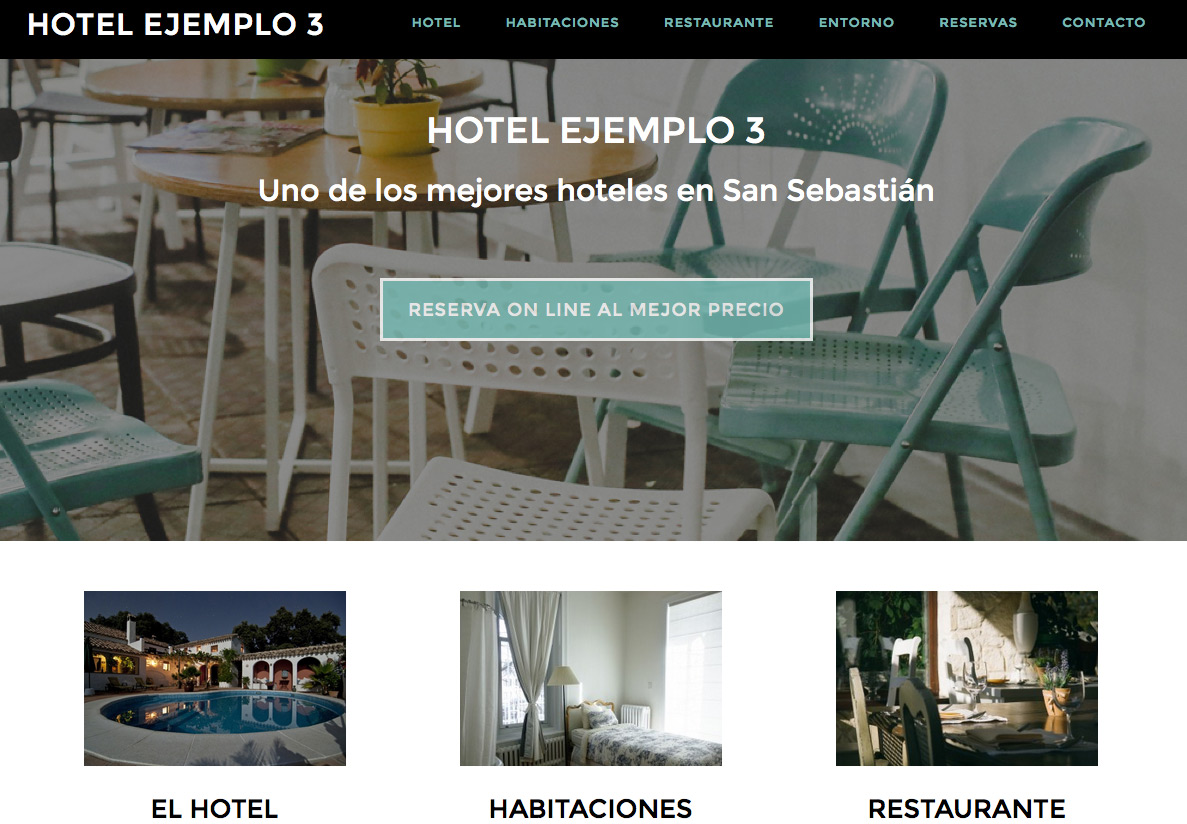 Dise o de p ginas web para hoteles y casas rurales con for Paginas para disenar casas