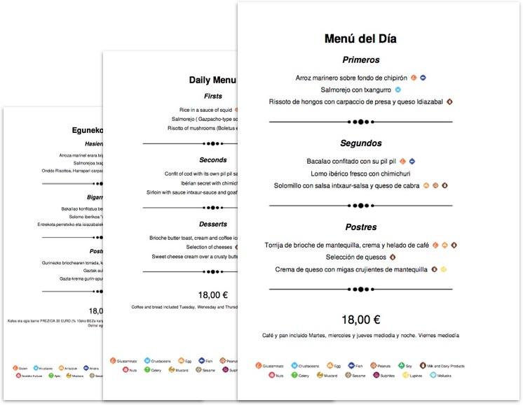 Crear cartas y men s con al rgenos for Como crear un restaurante
