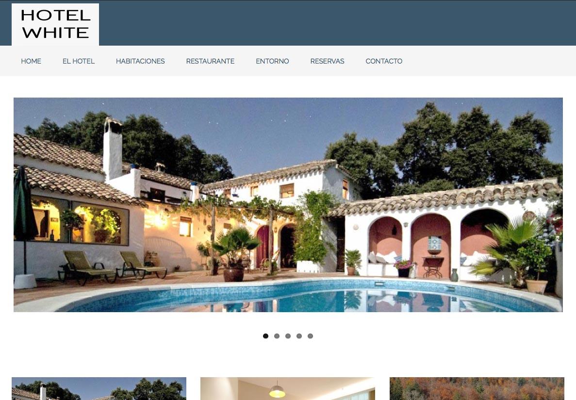 Dise o de p ginas web para hoteles y casas rurales con for Paginas de diseno de casas